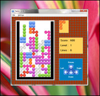 Screenshot of Free SSuite Tetris 2D